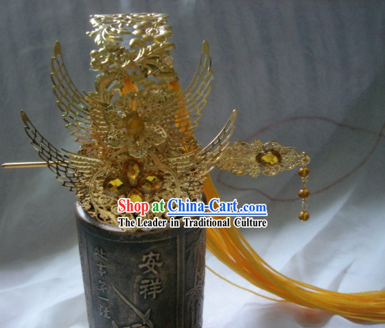 Handmade Ancient Chinese Style Emperor Hat for Men