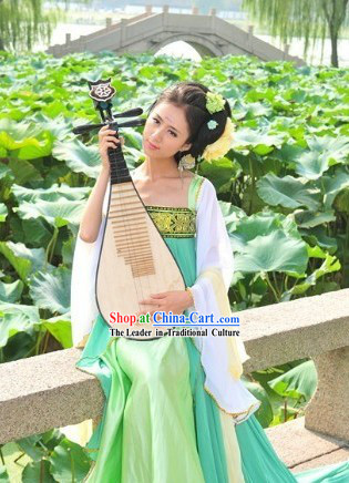 Green Tang Dynasty Lady Clothes for Women