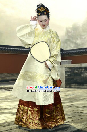 Ancient Chinese Ming Dynasty Lady Clothing Complete Set for Women