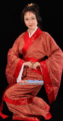 Ancient Chinese Style Hanfu Wedding Dress Complete Set for Brides