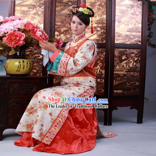 Qing Dynasty Princess Costume Complete Set for Women