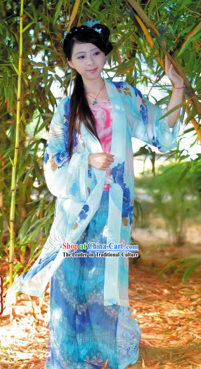 Ancient Chinese Song Dynasty Hanfu Clothing for Women