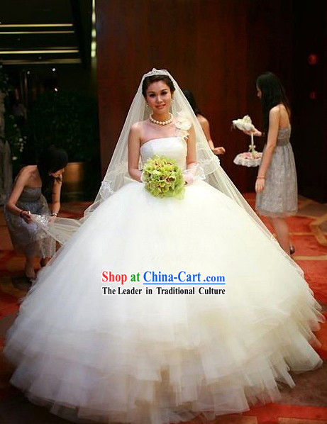 Supreme Romantic White Wedding Dress