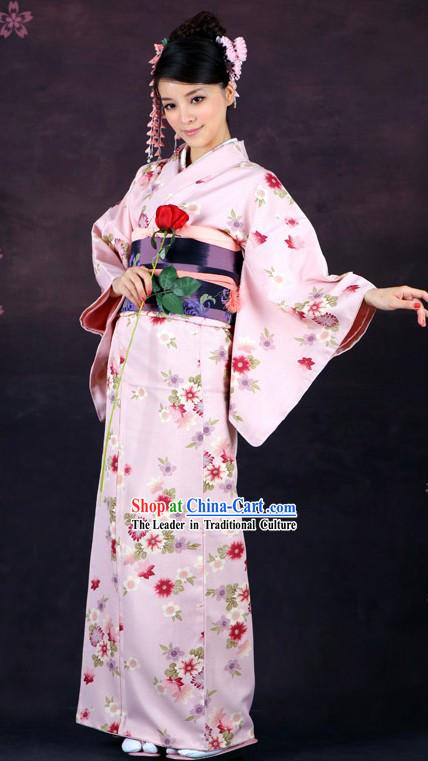 Japanese Classical Formal Kimono Clothing For Women