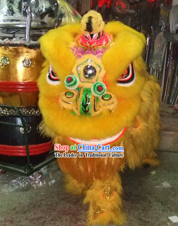 Top Traditional Festival Performance Lion Dance Costume Complete Set