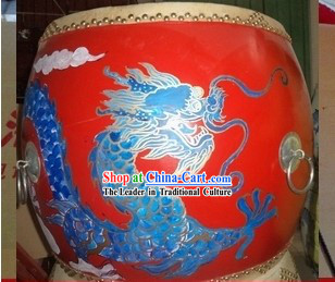 Traditional Chinese Painted Dragon Drum