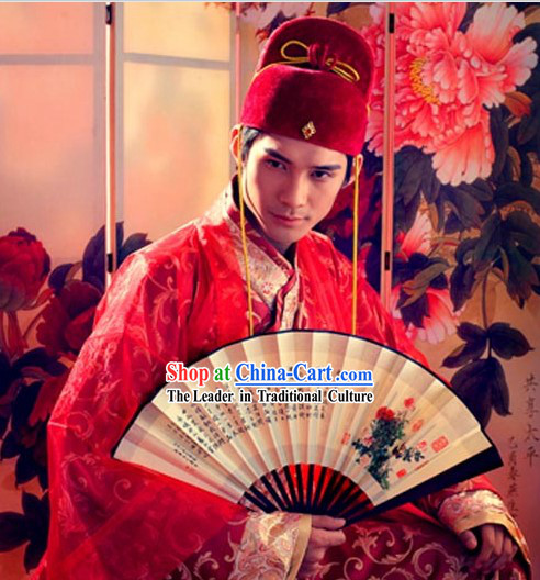 Ancient Chinese Bridegroom Wedding Dress Complete Set