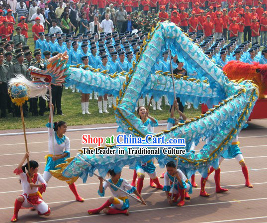 Lightweight and Shinning Chinese Handmade Net Dragon Dance Costume Complete Set