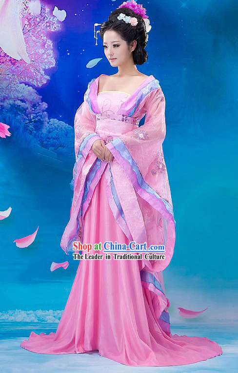 Ancient Chinese Beauty Hanfu Dress with Long Tail