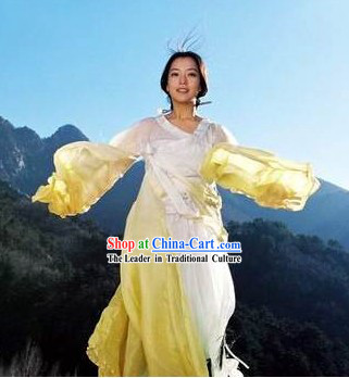 Traditional Chinese Princess Long Sleeve Dance Hanfu Costumes