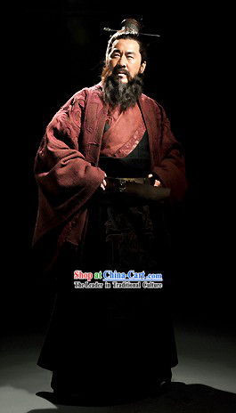Three Kingdoms Cao Cao Costumes and Coronet Complete Set for Men
