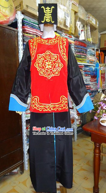 Chinese Opera Solider Costume and Hat for Men