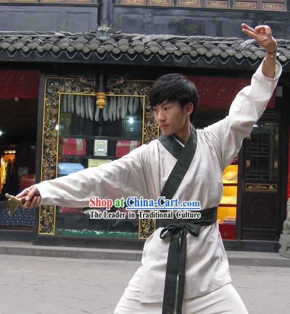 Ancient Chinese Kung Fu Uniform Complete Set for Men