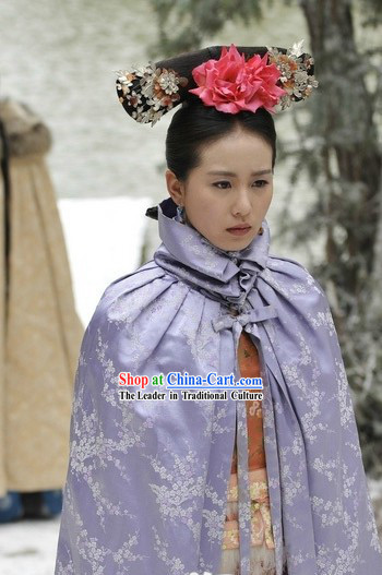 Qing Dynasty Princess Plum Blossom Cape for Women