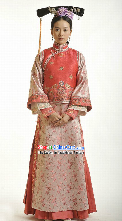 Qing Dynasty Princess Clothing Complete Set for Women