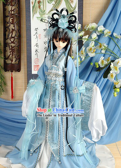 Ancient Palace Princess Clothing Hair Accessoreis and Wig Complete Set