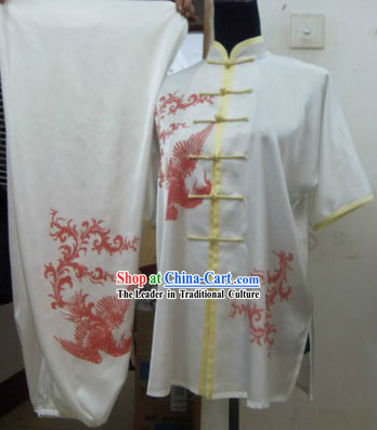Short Sleeve Phoenix Tai Chi Competition Clothes for Women