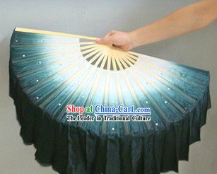 Chinese Classic White and Black Silk Dance Fan