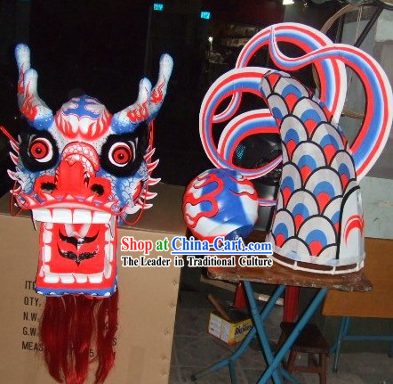 Supreme Competition and Celebration Luminous Dragon Dancing Costume Complete Set