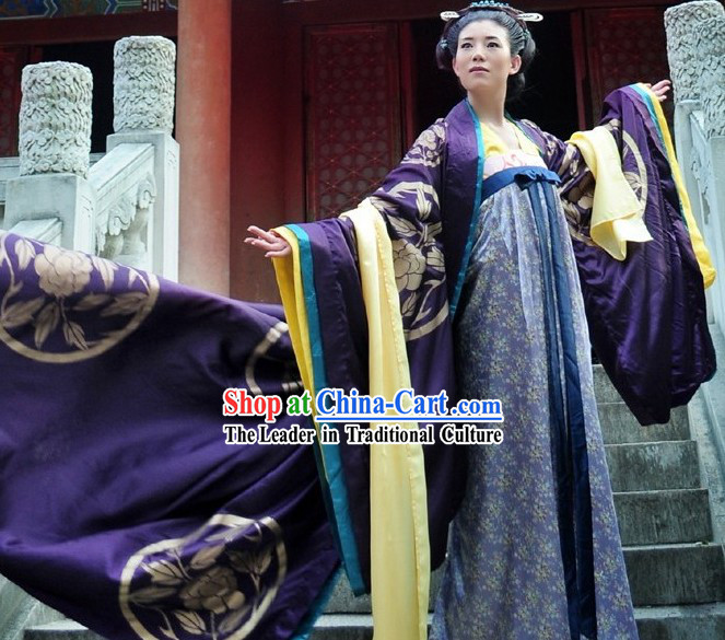 Ancient Tang Period Wu Zetian Women Emperor Court Dress