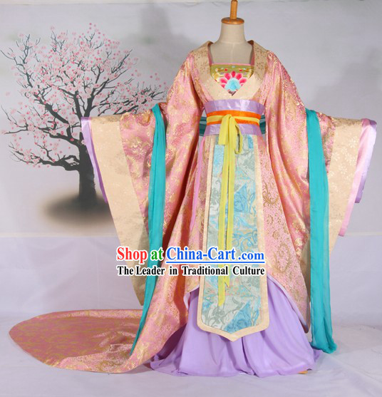 Ancient Chinese Tang Dynasty Palace Empress Costumes Complete Set for Women