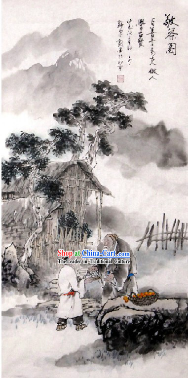 Chinese Classic Tea Painting - Tang Ming