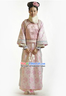Qing Dynasty Palace Lady Clothes and Hair Accessories