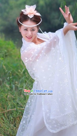 Xiao Long Nv TV Drama Character White Costumes for Women