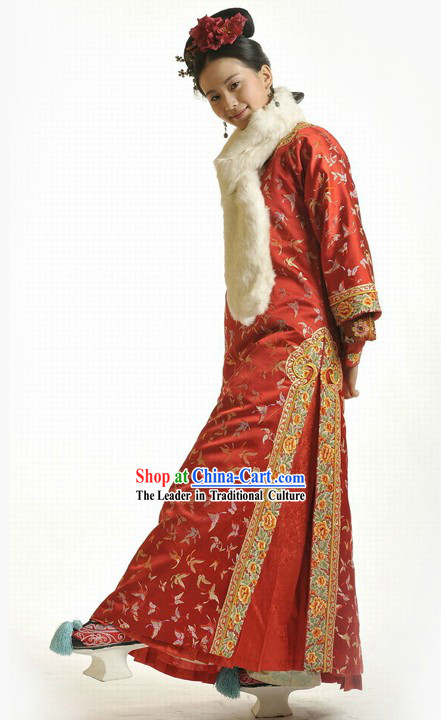 Ancient Chinese Palace Princess Wedding Dress and Hair Accessories Complete Set Ancient Chinese Traditional Dress Female