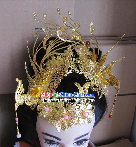 Ancient Chinese Wedding Phoenix Hair Accessories for Brides