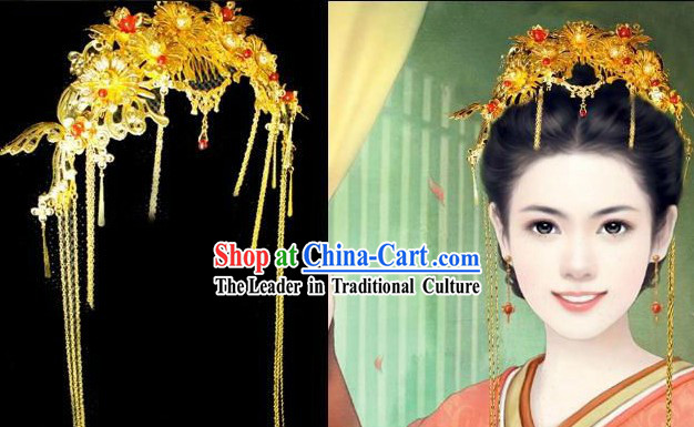 Traditional Chinese Hair Decoration for Brides