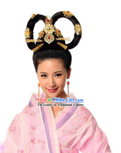 Ancient Chinese Princess Wig and Hair Accessories