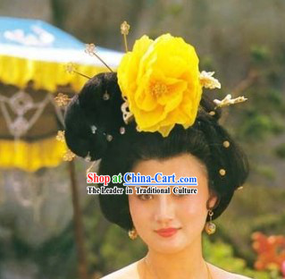 Tang Dynasty Empress Yang Guifei Wig and Hair Accessories