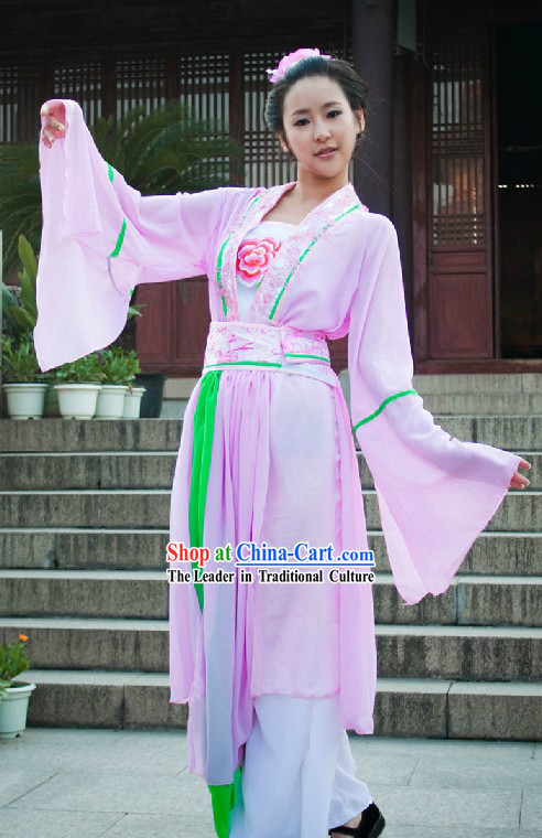 Chinese Classical Pink Dance Costumes for Women