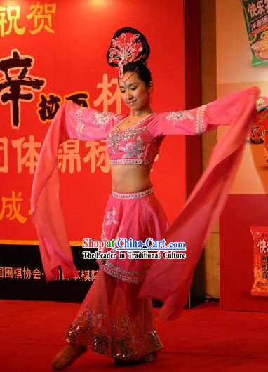 Traditional Chinese Long Sleeve Palace Dancing Costumes for Women