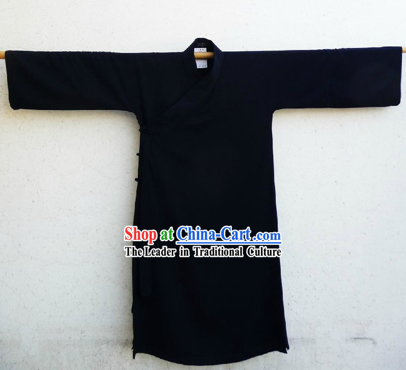 Chinese Classic Deep Blue Taoist Robe Clothing for Men