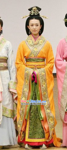 Ancient Chinese Imperial Empress Costumes and Headpiece