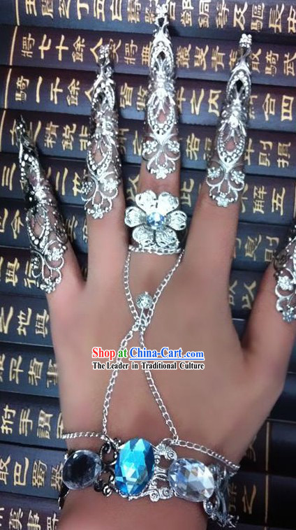 Traditional Chinese Empress Hand and Finger Nails Decoration Accessories