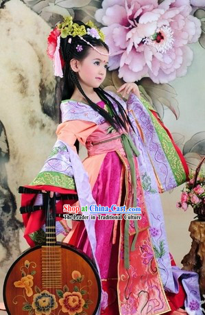 Ancient Chinese Imperial Princess Costumes for Children