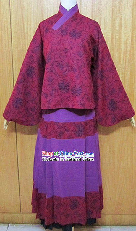 Ancient Chinese Ming Dynasty Flower Clothing for Women