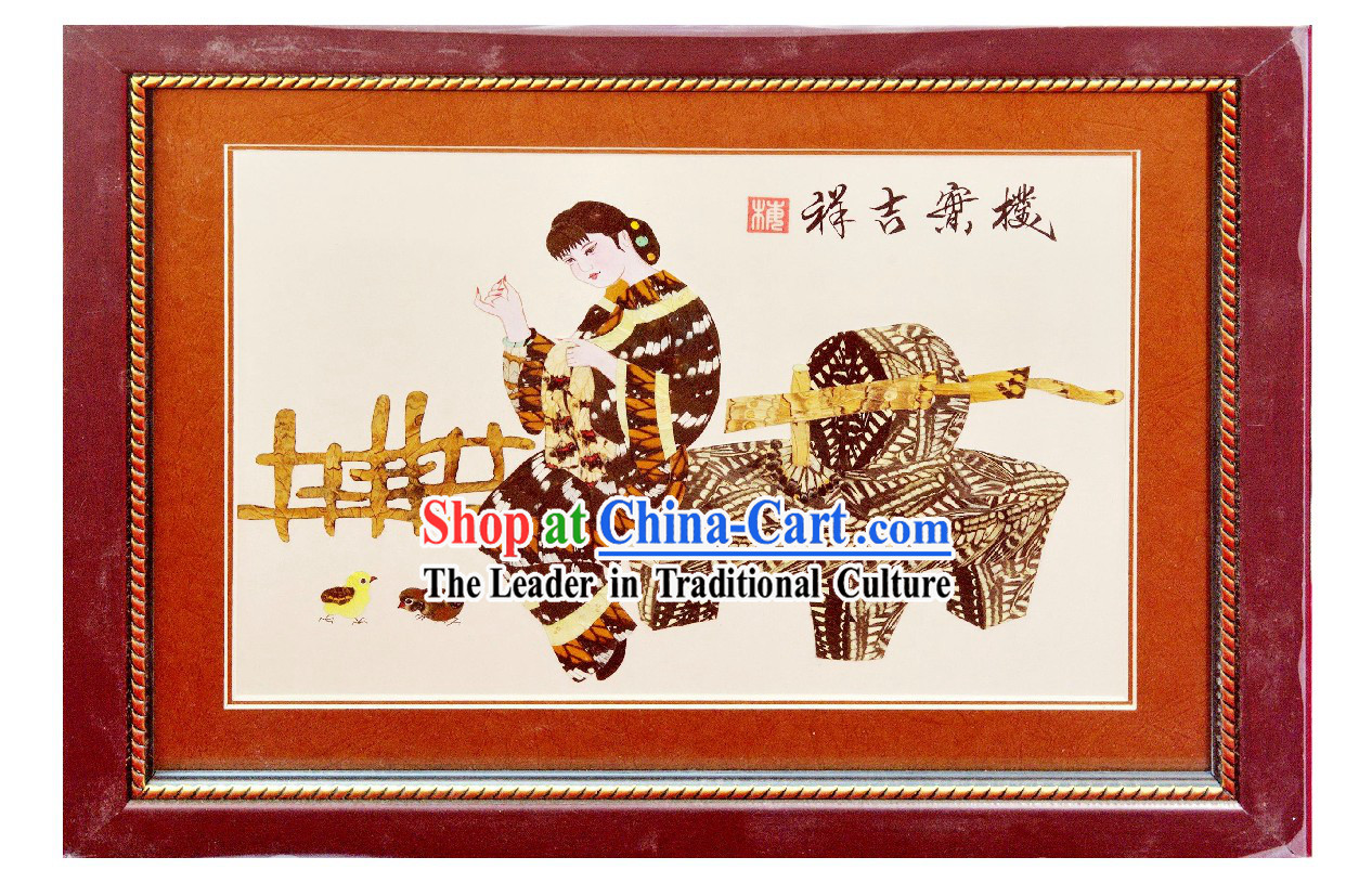 Handmade Real Butterfly Wing Painting - Ancient Chinese Woman