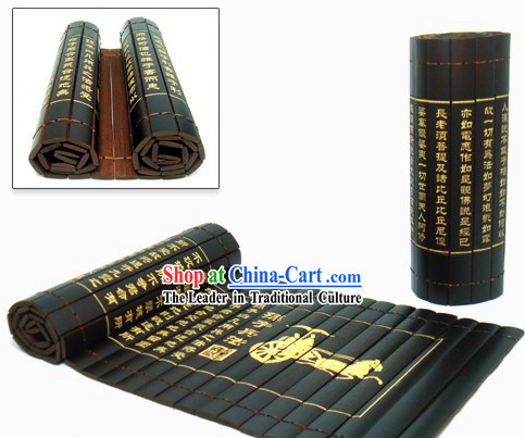 Traditional Chinese Inscribed Bamboo-slips - Sun Zi Bing Fa