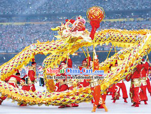 Beijing Olympic Games Opening Dragon Dance Performance Costumes Complete Set
