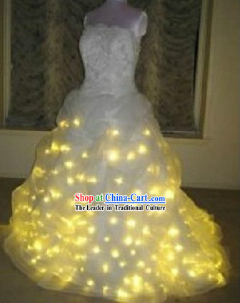 EL Wire Luminous Wedding Dress Complete Set