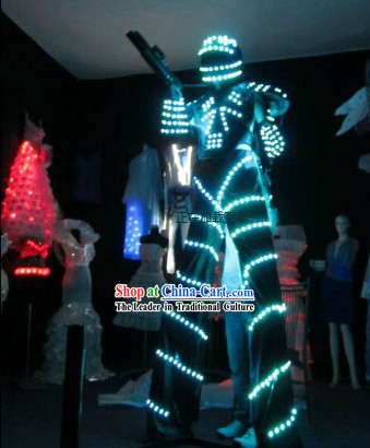 Color Changing El Wire Costumes Kit Complete Set
