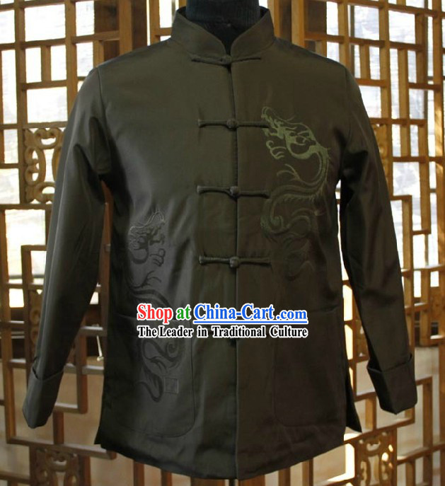Traditional Chinese Black Dragon Blouse