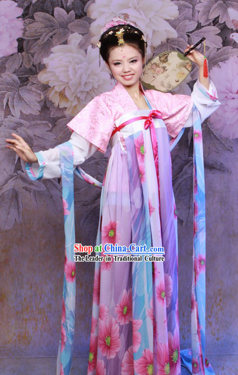 Traditional Chinese Tang Dynasty Beautiful Women Ruqun Costumes