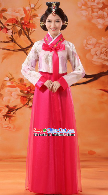 Traditional Chinese Korean Nationality Dance Costume for Women