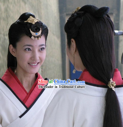 Ancient Chinese Han Dynasty Beauty Hair Accessories Three Pieces Set