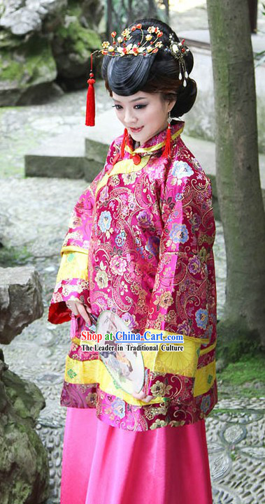 Traditional Chinese Mandarin Toasting Dress for Women